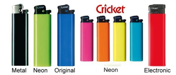 Cricket Feuerzeuge