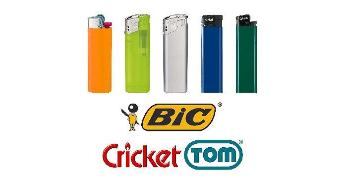 Feuerzeuge - BIC, Cricket, Tom