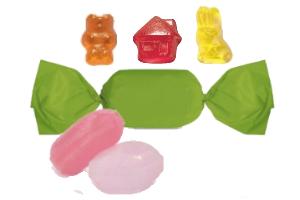 Werbe-Süßigkeiten, Bonbons, Fruchtgummi, Schokolade, Pfefferminz